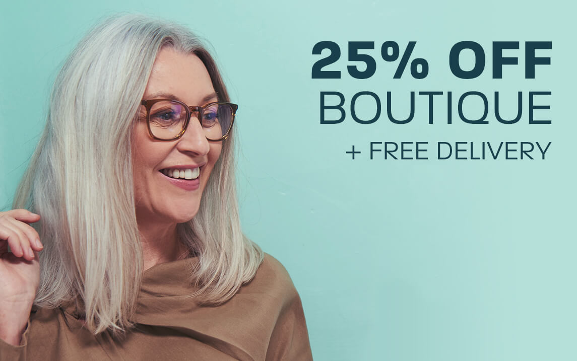 25% off Boutique + Free delivery