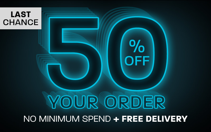 Last chance: 50% off your order + free delivery