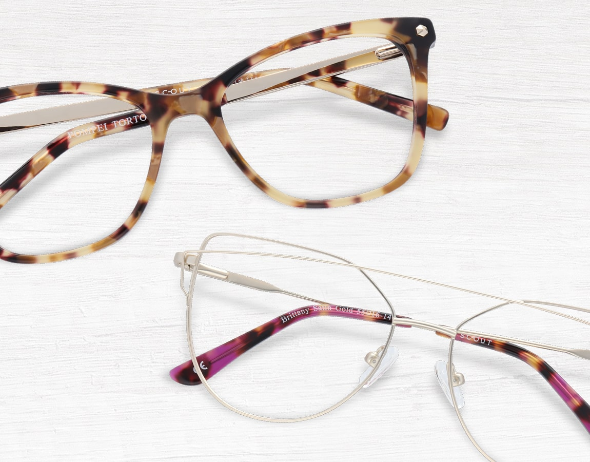 Scout Brittany glasses and Scout Made in Italy Pompei glasses