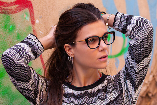 Woman wearing Scout made in Italy Capri glasses
