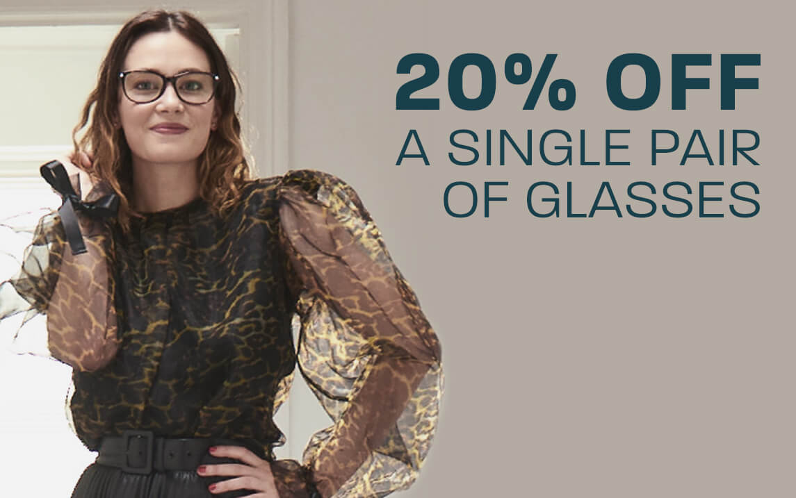 20% off a single pair of glasses