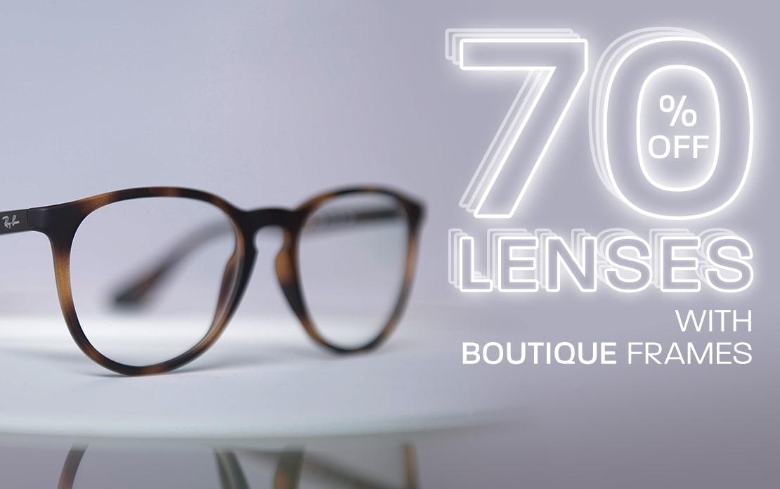 Big November: 70% off lenses with Boutique frames