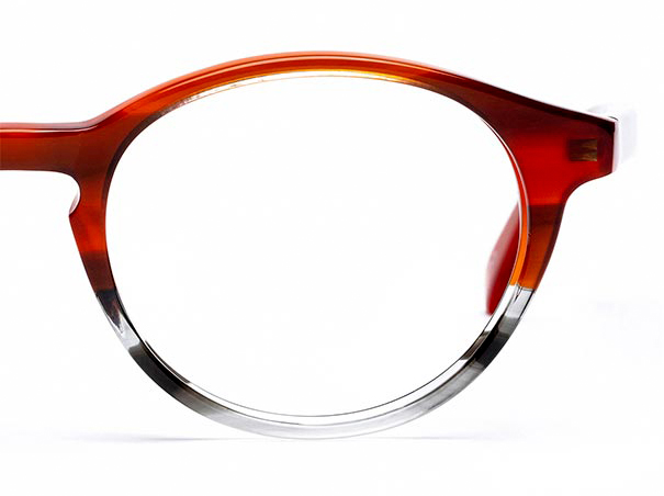 Half a pair of red glasses