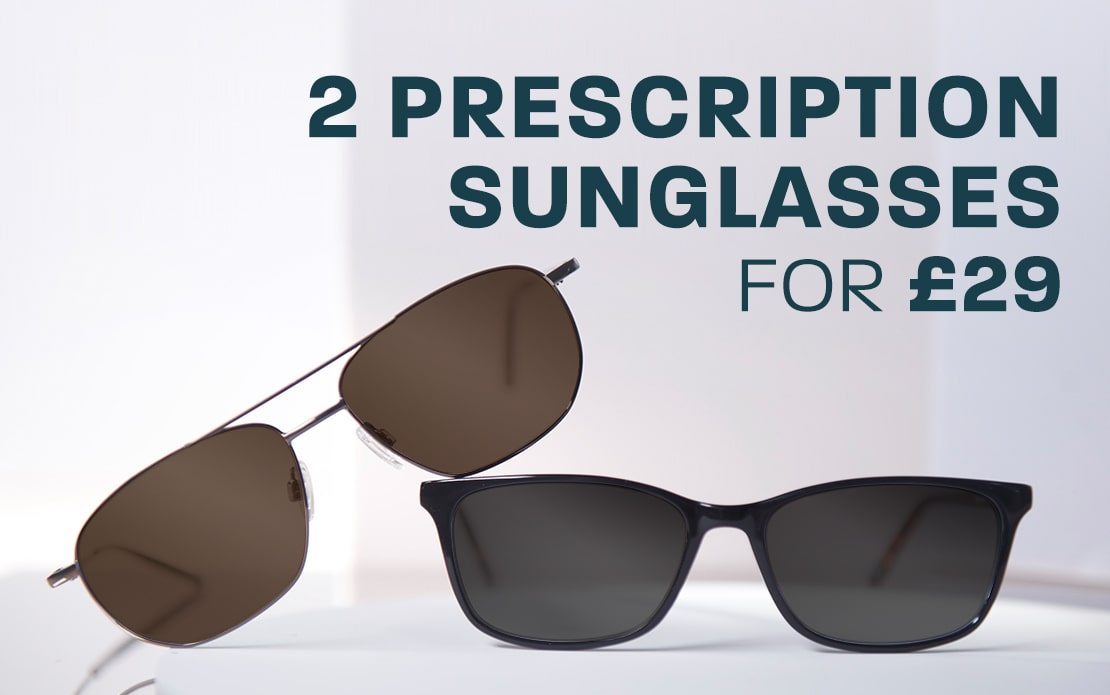 2 prescription sunglasses for £29
