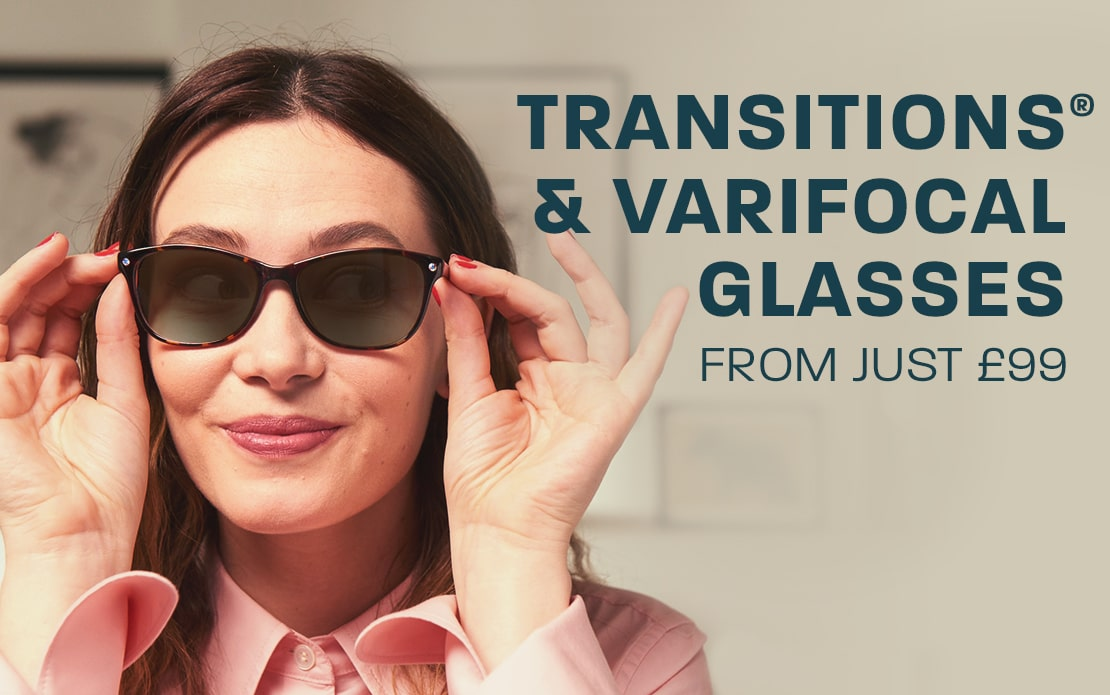 Transitions® & varifocal glasses - from just £99