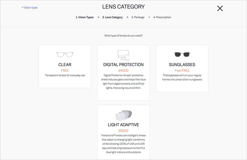 Then select one of our great value lens packages  Bronze, Silver, Gold or  Platinum. If you don t want to upgrade your lenses, simply click  continue  with ... 2329f6ab7569