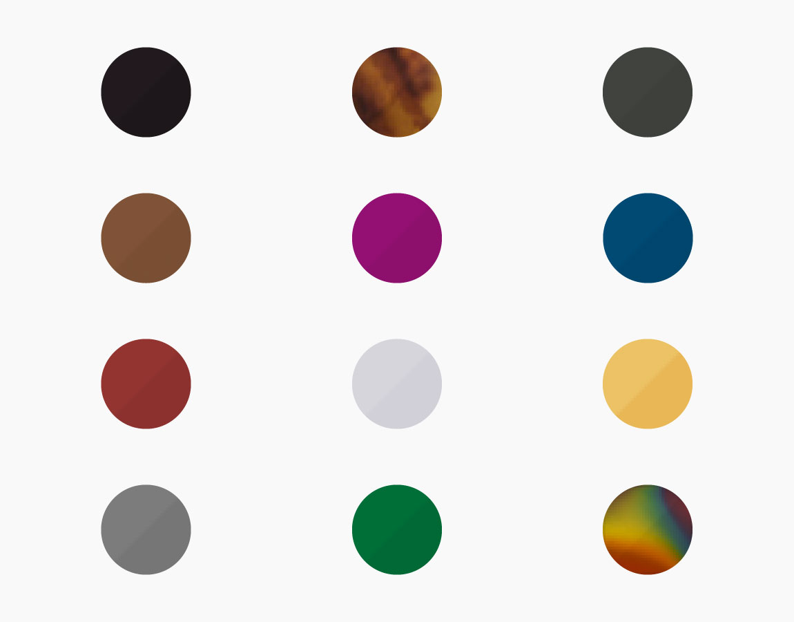 Circles in different colours