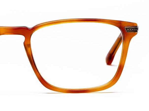 Half a pair of orange glasses